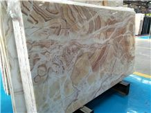 Iran Own Quarry Orange Onyx Slab for Wall and Floor Covering