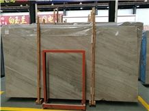 Polished Italian Brown Wooden Vein Marble Slabs, Wall Covering Pattern