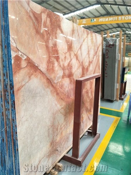 Superieur Red Vein Marble Slab For Table Tops