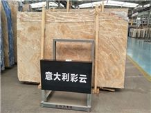 Wholesale Italy Iridescent Cloud Beige Marble Slabs for Wall Covering