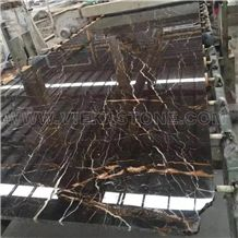 Portoro Gold,Jinxiang Yu,Brown Sanit Laurent Marble Slabs & Tiles, Brown Portoro Gold Marble