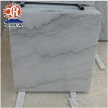 China Original Guangxi White Grey Marble Tile