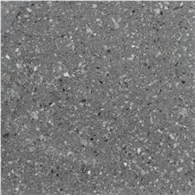Dark Grey Terrazzo Tiles, Artificial Stone, Tt002u