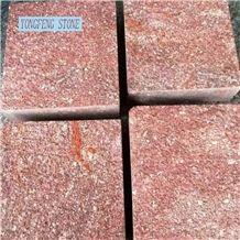 Red Porphyry Brick Cube Blood Stone Slab Cut Honed