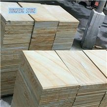 Sandstone Yellow Wood Grain Grey Anti Slip Tiles