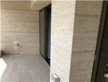 Travertine Slabs, Turkey Denizli Beige Travertine Tiles, Vein Cut,