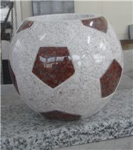 China Granite Monument&Tombstone Funeral Football Vase Memorial Vase