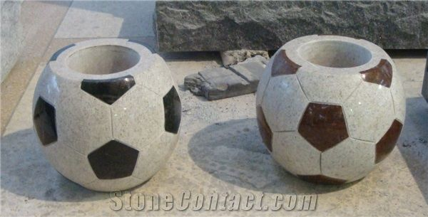 China Granite Monumenttombstone Funeral Football Vase Memorial Vase