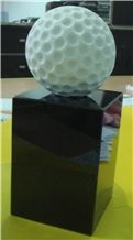 China Marble Sculptures Handicraft Gifts Engraved Balls
