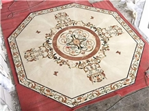 Hot Sale Beige Marble Inlay Flooring Design