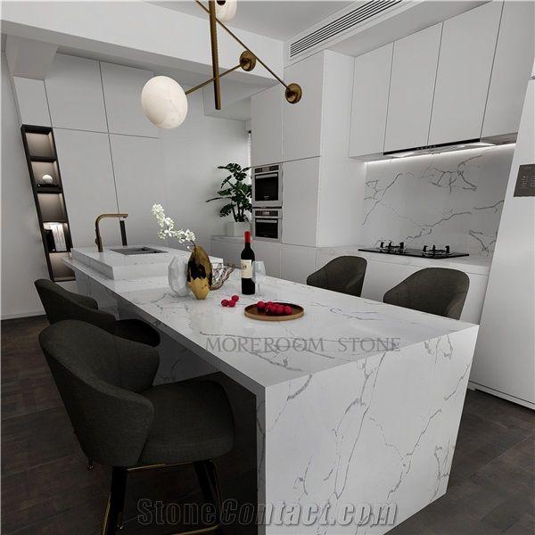 Hot Sale Calacatta White Marble Quartz Countertops From China