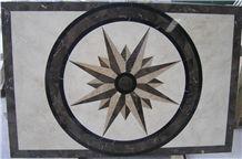 Black Marble Medallion Pattern,Composited Medallion Flooring