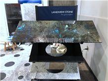 Labradorite Blue Kitchen Tops, Lemurian Blue Kitchen Tops