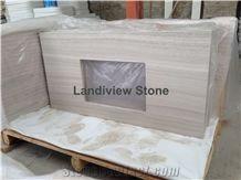 White Oak Marble Vanity Top