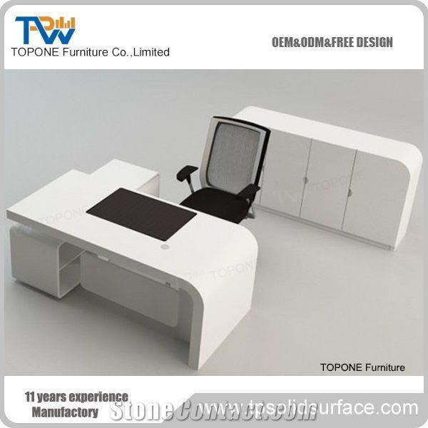 Best Selling Ikea Style Marble Stone Office Desk White Office Desk