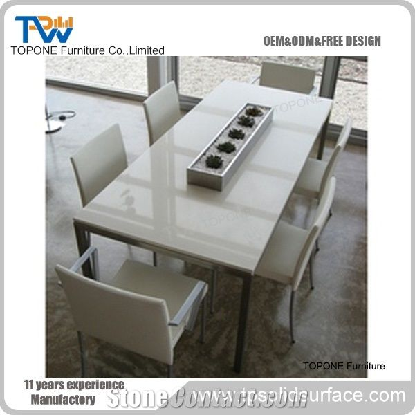 Corian Solid Surface Dinner Table