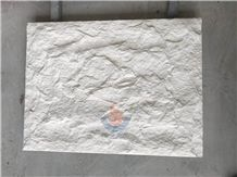 Limra White Limestone Split Face Mushroom Stone,Wall Cladding,Panel