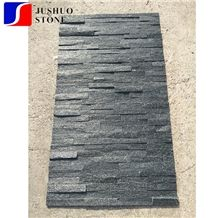 Cheap Z Shape Black Cultural Stone Exterior Wall Cladding Slate