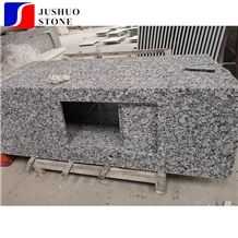 China Polished Spray White Granite with Cheap Price and Good Quality Kitchen Countertop