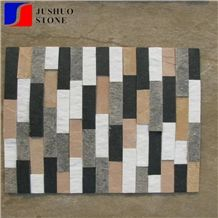China Split Face Slate Stacked Stone,Multicolor Culture Stone Walling
