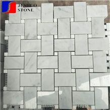 Fiberglass Yarn Woven Shape Mesh Marble Mosaic with Cheap Price