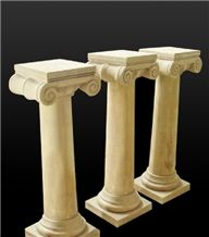 Classic Beige Limstone Flower Pot Stand Roman Pillar,Column