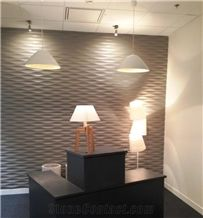 Lymra White Limestone 3d Spray Wave Wall Panel Tile,Cnc Building Interior