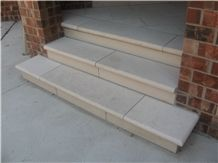 Portugal Beige Marble Deck Stair,Door Front Staircase Risers for Outside