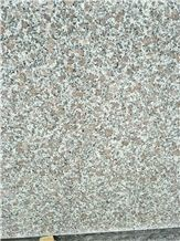 China Cheap Granite Stone Tiles Floor Covering Polished Red Dot