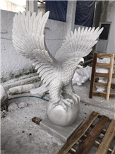 Hand Carved Eagle, Stone Sculpture, Carving Stone, Marble Statue