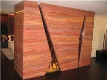 Iran Red Travertine Slabs & Tiles
