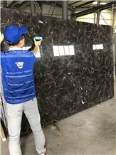 China Emperador Dark Brown Marble Slabs High Degree Polished Surface
