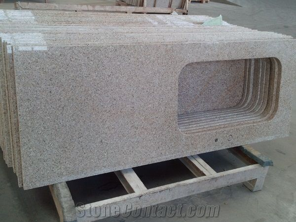 G681 Rosy Cloud Pink Chinese Granite Stone Kitchen Sink ...