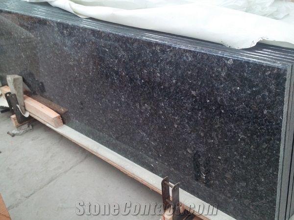 Importing Black Galaxy Granite Stone Kitchen Worktops,Island