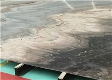 Blue Gold Sand Marble Tiles/Slabs/Cut to Size Polished for Floor &Wall