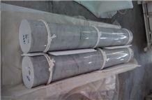 Polished Bianco Carrara White Marble Solid Columns