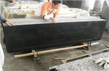 Polished Black Galaxy Granite Small Slabs Black Granite Bar Tops