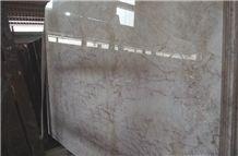 Polished Red Ice-Cream Beige Marble Bathtoom Flooring Tiles