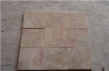 Polished Red Ice-Cream Beige Marble Marble Look Floor Tiles