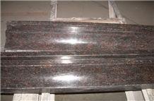 Polished Tan Brown Red Granite Door Surrounding Lines