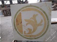 White Onyx Waterjet,White & Green Onyx Pattern,Onyx Wall Floor Pattern