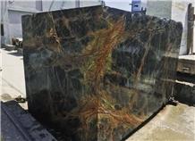 Bidasar Marble Blocks, Rainforest Green Marble