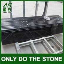 China Black & Nero Marquina Marble Stair Treads & Riser,Block Steps