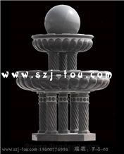 Fortune Ball Fountain, Grey Marble Ball Fountains