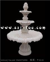 Sculptured Urban Fountain, White Granite Urban Fountains