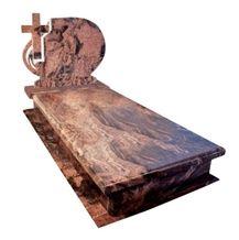 Aurora Red Granite Tombstone Cross Single Monuments