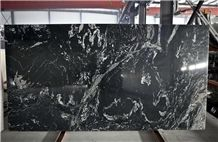 China Titanium Royal Ballet Nero Fantasy River Black Gold Cloud Granite