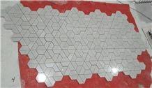 Cinderella Grey Marble Mosaic Tiles