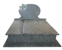 G418 Spray Wave White Grey Granite Western Style Monuments Tombstones