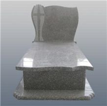 G664 Poland Monument Jewish Style Headstone Cross Tombstone